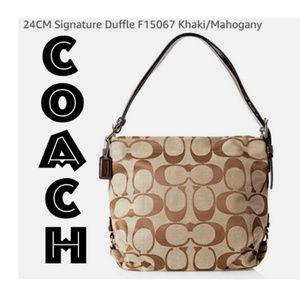 Coach Signature Duffle Handbag F15067